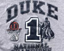 1991 Duke University NCAA Basketball Gray  2X