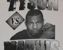 90s MIKE TYSON vs Buster Mathis Boxing  White