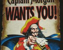 1990s Captain Morgan's Spiced Rum Black