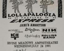 1991 Lollapalooza  NIN Janes Addiction Miller