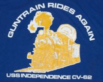 Guntrain Rides Again USS Independence Velva Sheen T