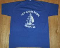 80s New Jersey Shore Triviates  Sailboat Sailing Sz L