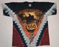 90s  Highway to Hell AC DC Tie Dye All Over L