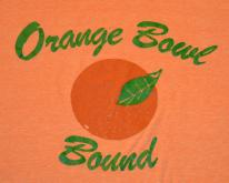 Vintage 70s Orange Bowl Bound Rayon Tri-Blend T-Shirt S-M