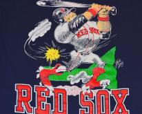 90s MLB Boston Red Sox Jack David Cartoon - L