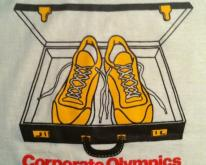 1980's corporate Olympics marathon sneakers