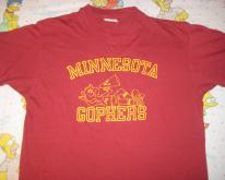 1980's Minnesota Gophers , soft & thin
