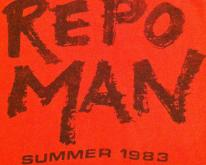 Vintage Repo Man punk rock cult movie crew t-shirt