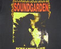Soundgarden 1989-90 Screaming Live Vintage T Shirt Godhead