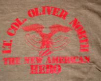 OLIVER NORTH american hero army  80s reagan
