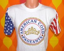 coed beauty PAGEANTS rhinestone flag  80s