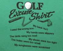 GOLF excuses funny joke humor green  70s