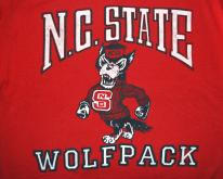 NC STATE university wolfpack  80s red soft