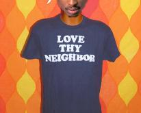 LOVE THY NEIGHBOR funny bible religion  flock