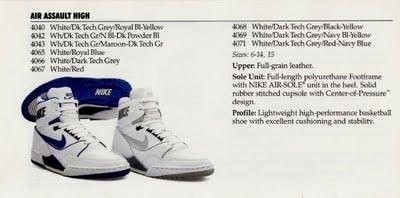 Vintage Nike Catalog Basketball 1988