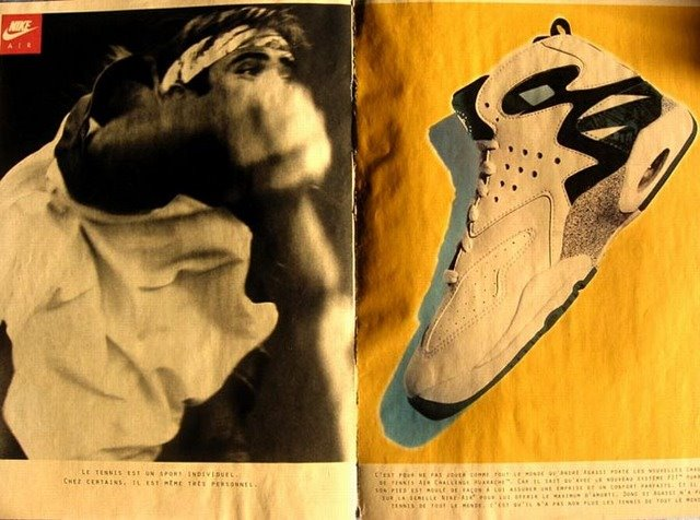 low priced 4d42a 822c9 Didn t knew McEnroe played in them also (seems that McEnroe, when Agassi  was on his top, wore a lot the gear Nike designed for Agassi)