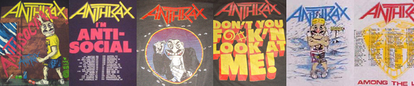 vintage anthrax t-shirts