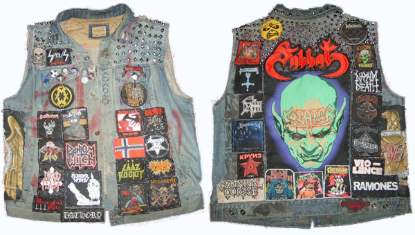 vintage battle jacket kutte