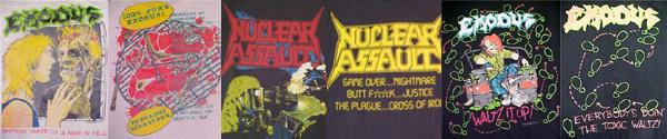 vintage exodus nuclear assault t-shirts
