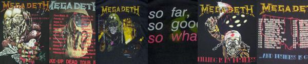 vintage megadeth t-shirts