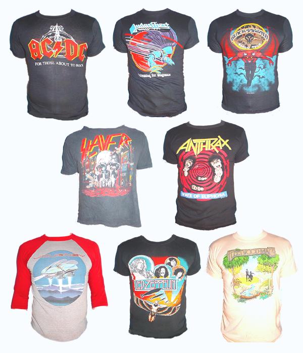 vintage shirt line up