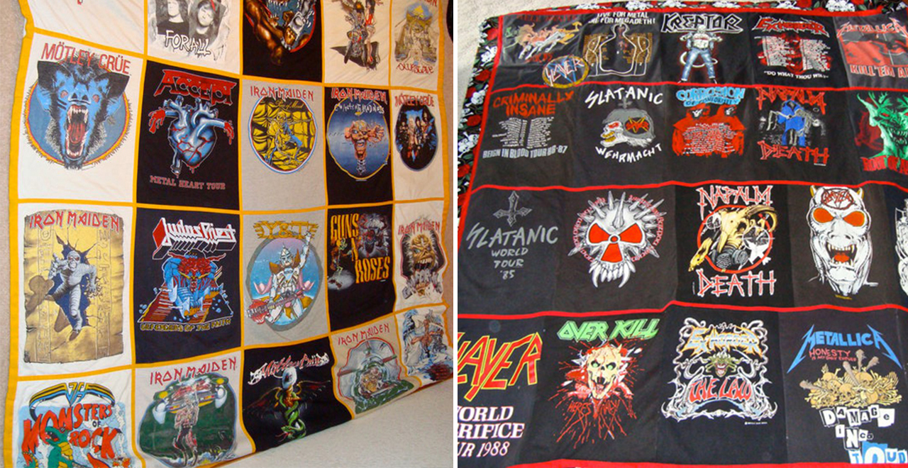 Vintage T-Shirts Turned Into Blankets