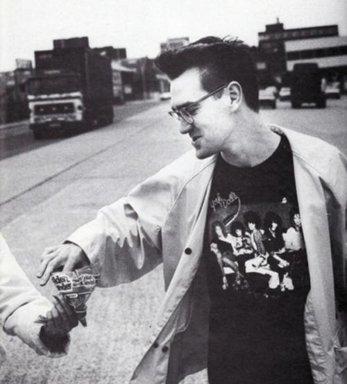 Morrissey in New York Dolls Tee