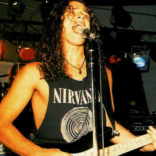Chris Cornell in Nirvana Tee