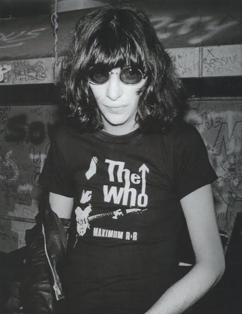 Joey Ramone in The Who tee