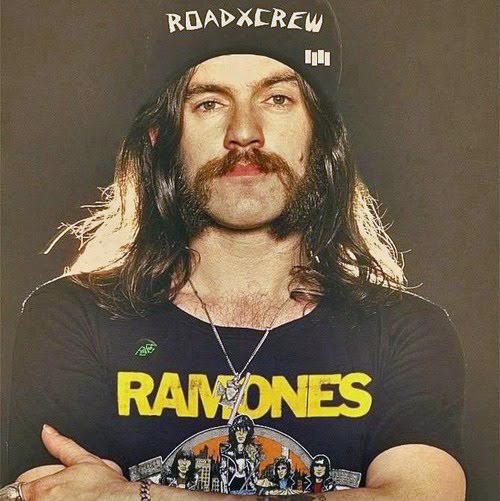 Lemmy in Ramones tee
