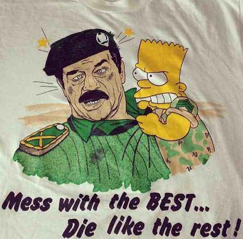 Vintage Bootleg Bart Vs Saddam Tee