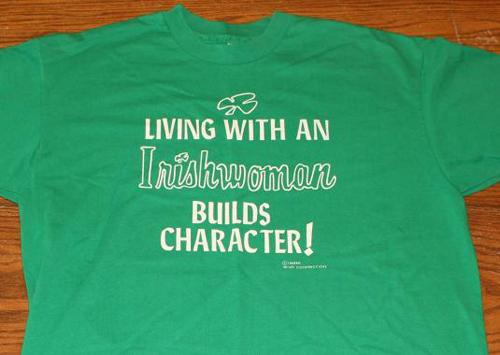 vintage living with irish woman t-shirt