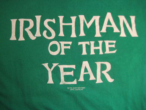 vintage irishman of the year award t-shirt