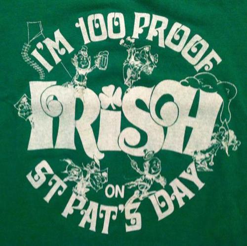 vintage 100 proof Irish t-shirt