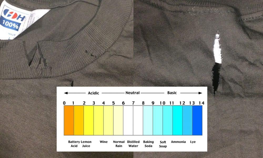 Dry Rot Vintage T-Shirts pH Test