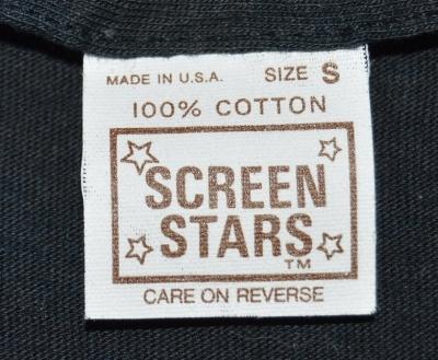 100% Cotton White Screen Stars Tag