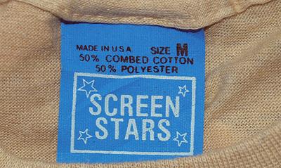 1980 Screen Stars Blue Tag