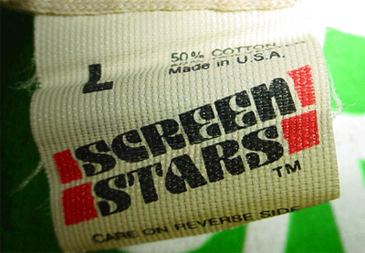 Screen Stars tag 1981 to 1983 funky a