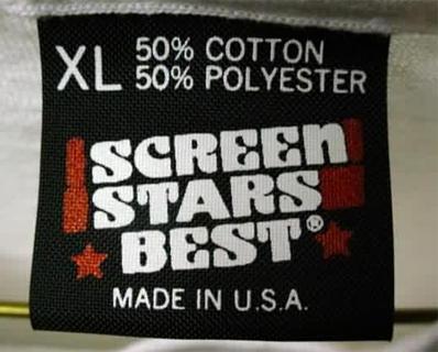 Screen Stars Best Black Tag 50/50 Red Bar