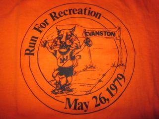 Vintage Evanston Illinois Run for Recreation 1979 1970s