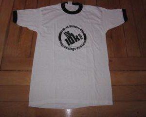 Vintage Running T-Shirt Ringer 1980s 1970s 50/50 10k hills