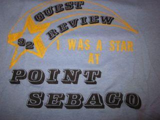 Vintage Point Sebago Guest Lake Maine T-shirt 1992 1990s