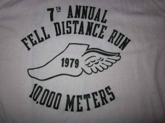 Vintage Running T-Shirt Ringer 1979 1970s 50/50 Classic