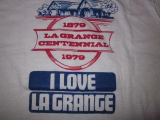 Vintage La Grange Illinois Centennial T-shirt 1979 1970s