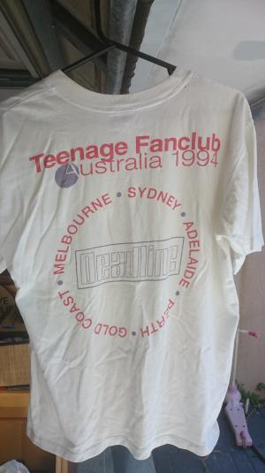 Teenage Fanclub: rare Australian 1994 tour t shirt