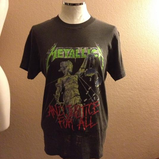 """Metallica """"And Justice for All"""" Tour Tee"""
