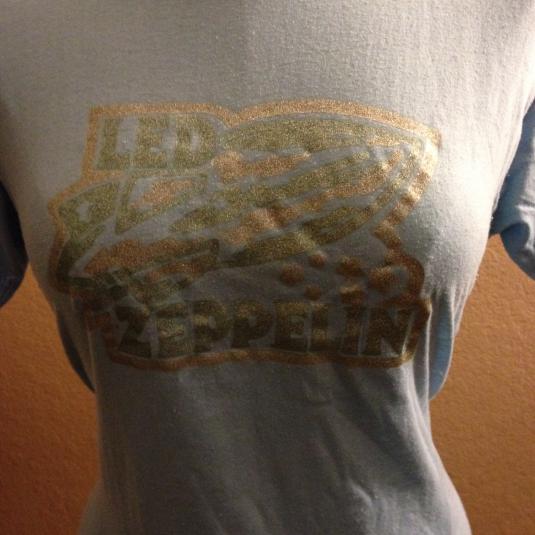 Original Led Zeppelin Glitter Logo Decal Tee