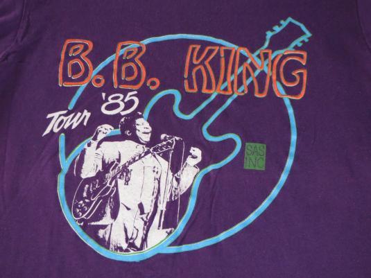1980s B.B. KING TOUR '85 – SCREEN STARS – XL