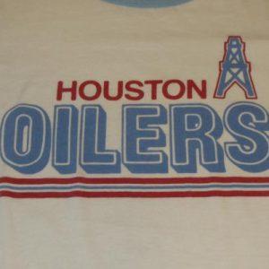 1980s HOUSTON OILERS - TEE-JAYS - XL - 50/50