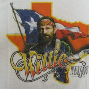 Willie Nelson Vintage 1984 Concert T-Shirt - Texas